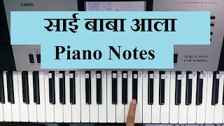 how to learn fast || Sai Baba Aala || Piano Tutorial || Piano Notes