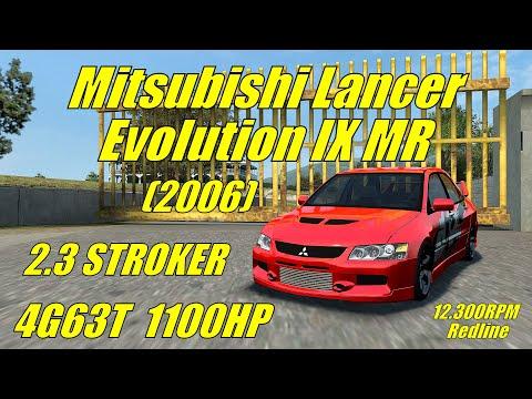 LFS - Mitsubishi Lancer Evolution IX MR 4G63T 2.3 Stroker 12.300RPM Redline 1100hp | Logitech G29