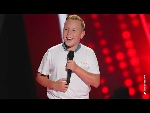 Robbie Sings Hey Soul Sister  The Voice Kids Australia 2014
