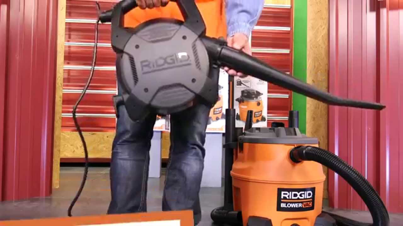 Ridgid 16gal Wet Dry Vac With Blower At Home Depot