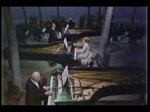 Robert CasaDesus Bach Concerto for 3 pianos, 3rd movement. 1964