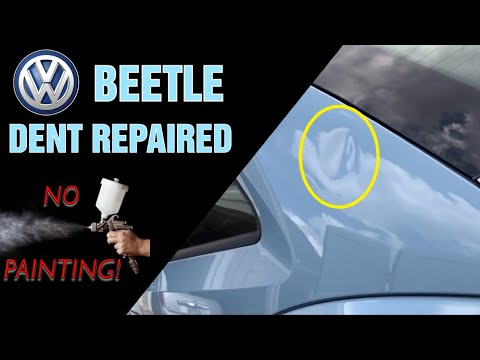Mobile Dent Repair In Locust Grove Ga - Paintless Dent Repair on a  2015 VW Beetle