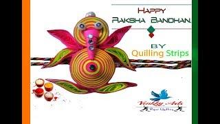 Paper Quilling | How to make  paper quilling rakhi for Raksha Bandhan | Special rakhi ganpati
