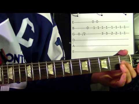 The Hockey Song ( The Good Old Hockey Game ) - Guitar Lesson✅✅🎵