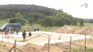 vuclip DPDG przygotowanie płyty fundamentowej, dzień trzeci, kanalizacja
