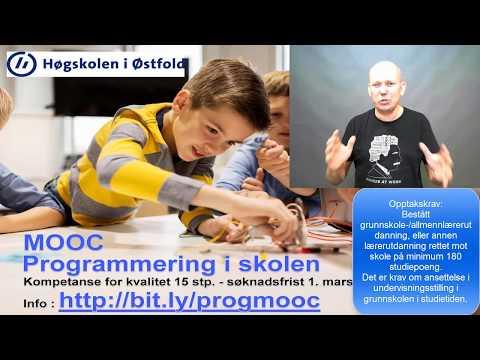 Søk Programmering i skolen 1.-10. trinn ved Høgskolen i Østfold