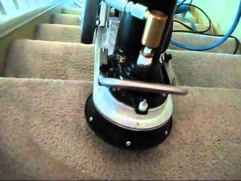 The Rotovac 360i Carpet Cleaning Machine Cleaning Both Stairs And Carpet