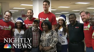 Inspiring America: Secret Santas Bring Surprise Gifts To Holiday Shoppers | NBC Nightly News