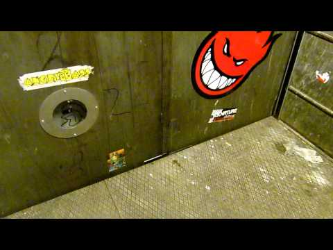 Epic 1943 Thrige freight elevator with awesome motor sound - in Copenhagen, Denmark