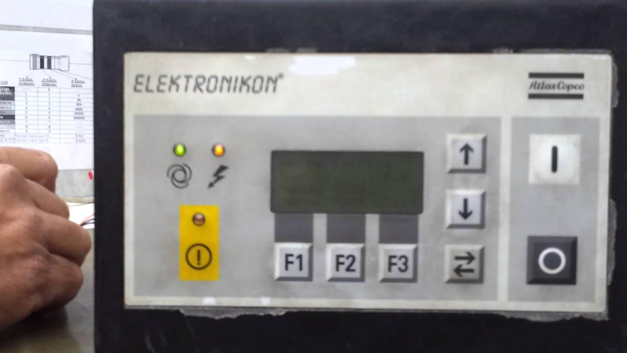 teste elektronikon youtube rh youtube com atlas copco elektronikon 3 manual atlas copco elektronikon manual