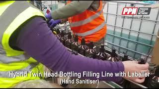 PPN Hybrid Twin Head Bottling Filling Line with Labeller