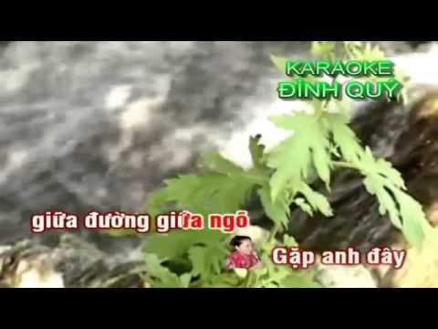 Karaoke - Cô Gái Tưới Đậu - Tân cổ song ca - Độ nét HD - Karaoke hay nhất
