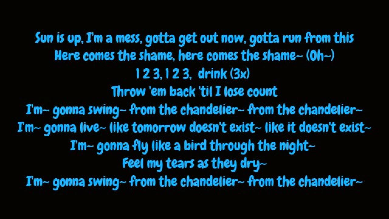 Sia - Chandelier (Lyrics HD) - YouTube