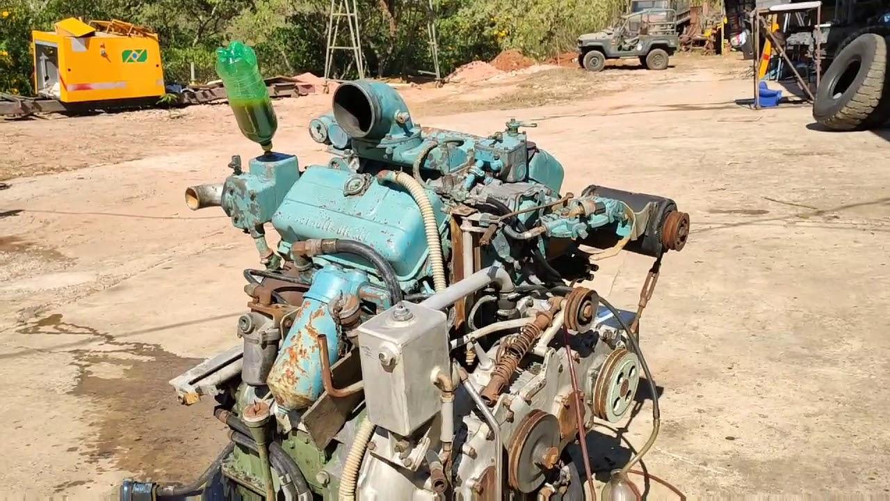 Motor Detroit 6V53 2T diesel do blindado M113 apresentação e funcionamento