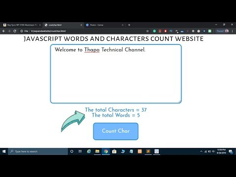 Create A Word And Character Counter Website Using HTML CSS JavaScript