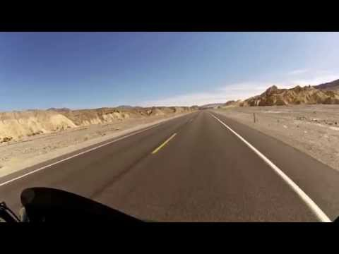 Riding on Hwy 190 - Badlands - Death Valley