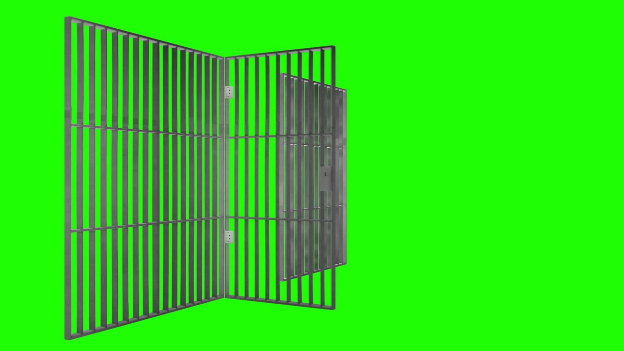 Prison Jail Bars Cell Green Screen Animation Youtube
