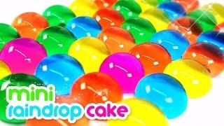 How To Make Rainbow Mini Raindrop Cake | MonsterKids