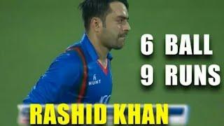 Rashid Khan Blowing 6 Bowl 9 Runs Needed 3rd T- 20 Ban Vs Afg