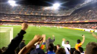 -CURVA NORD- Valencia CF - FC Basel (5-0) Europa League.