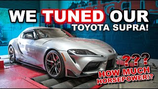 We Tuned our A90 Toyota Supra!! How much Horsepower did we make?? | Stock vs Tuned Dyno Comparison!