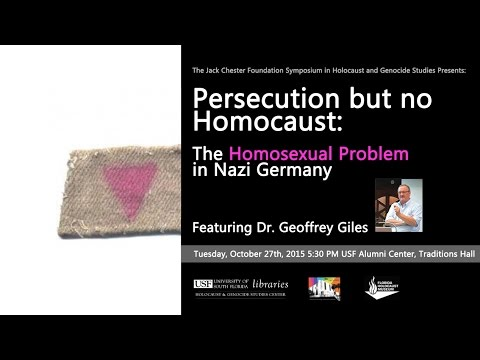 Persecution But No Homocaust: The Homosexual Problem In Nazi Germany