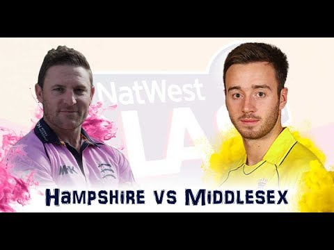 Middlesex vs Hampshire,Nwest T20 Blast South Group - Live Cricket Score, 3 Agust 2017