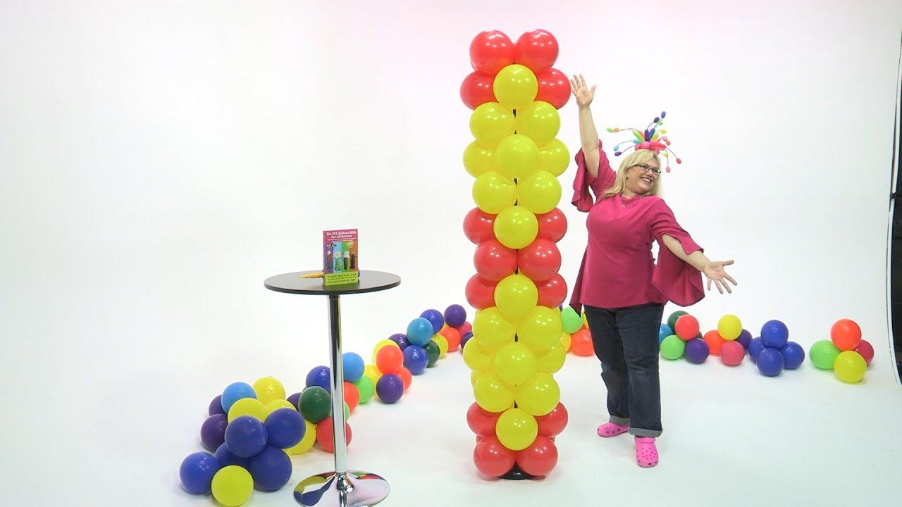 Diy balloon columns - Balloon Column In A Diamond Pattern Diy Tutorial