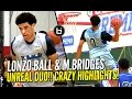 Lonzo Ball Miles Bridges UNREAL DUO At Ballislife All American Scrimmage CRAZY HIGHLIGHTS mp3