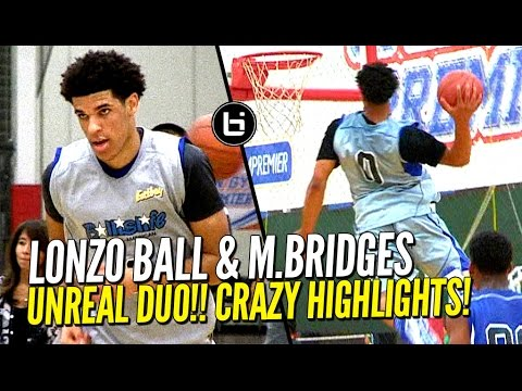 Lonzo Ball & Miles Bridges UNREAL DUO at Ballislife All American Scrimmage! CRAZY HIGHLIGHTS!!