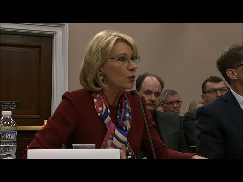 DeVos Faces Tense Exchange over Education Budget