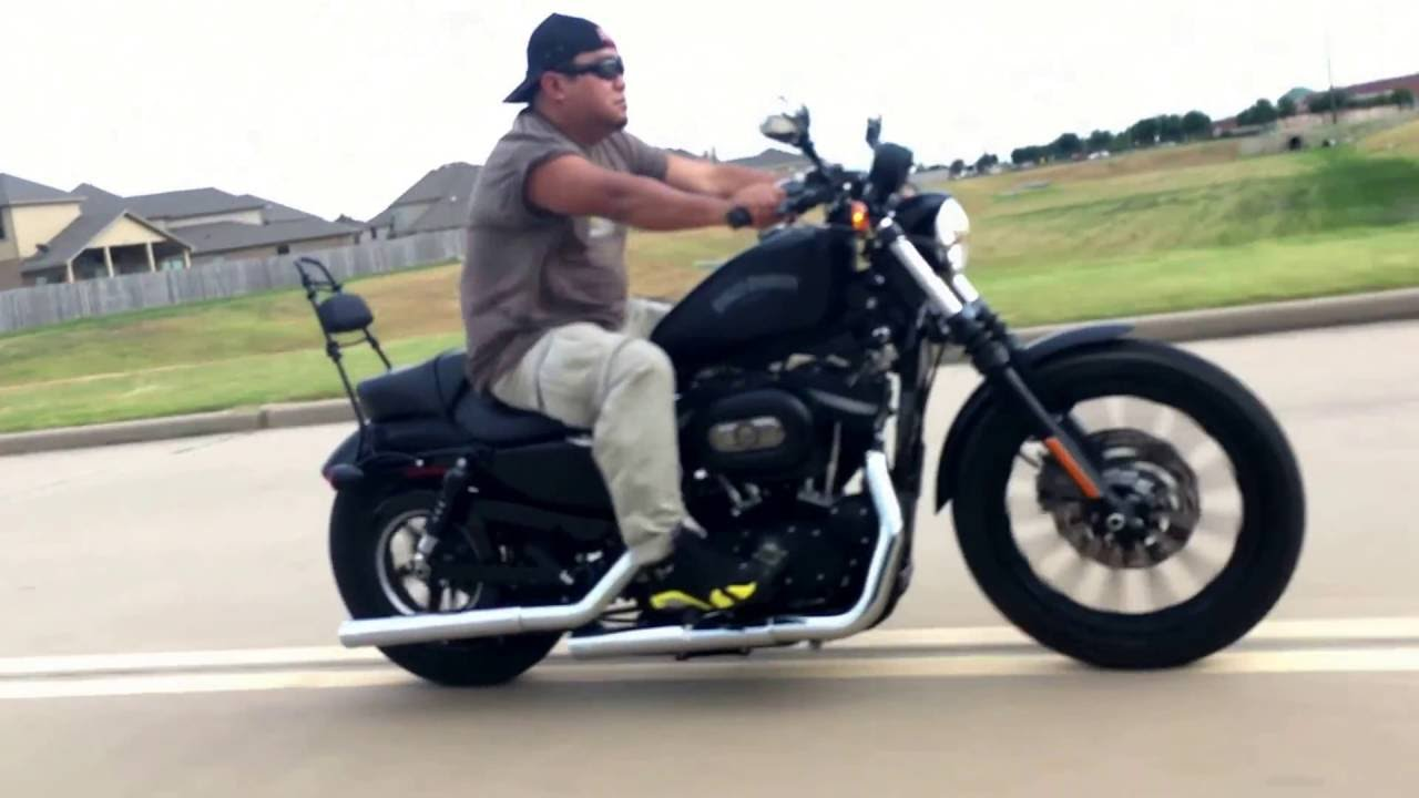 Sportster Iron 2016 >> Iron 883 with Vance and Hines straight shots slip ons, skeleton mirrors and Sissy bar! HD 883 ...