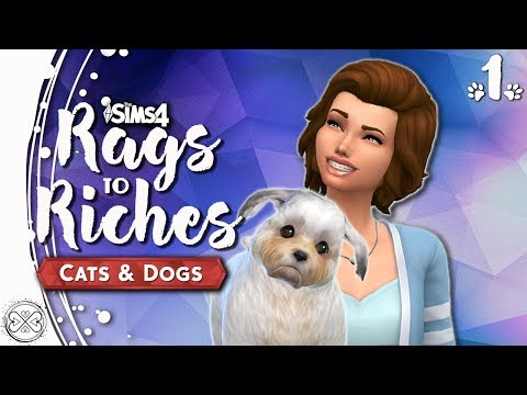 Let's Play The Sims 4 Cats and Dogs - Rags to Riches - Part 1
