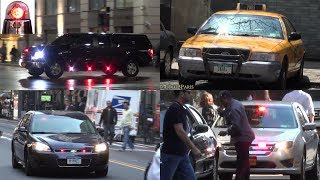 Unmarked Police Cars Responding Compilation: Sirens NYPD Police Taxi, Federal Law Enforcement, FDNY