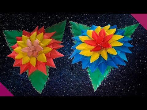 Amazing diy paper dahlia tutorial flower|Tissue paper dahlia|paper flower dahlia