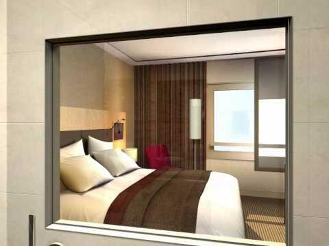 visite virtuelle d 39 une chambre d 39 h tel youtube. Black Bedroom Furniture Sets. Home Design Ideas