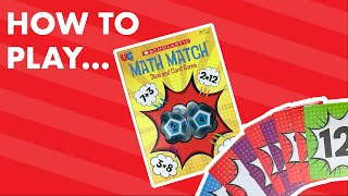 HOW TO PLAY Scholastic Math Match Card Game | Great for Learning From Home! UG Studios