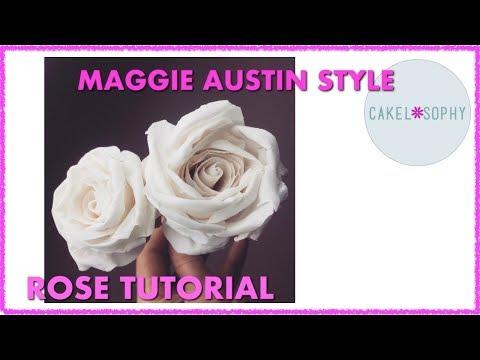 Gumpaste Rose Tutorial Maggie Austin Style (2018)