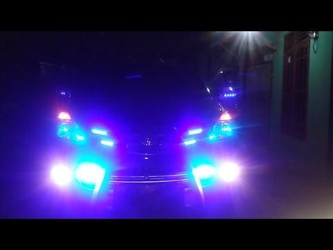 Modifikasi Mobil : Strobo Grill 6 LED x 4 Baris 1 Modul Di Toyota Avanza Irama Kedipan Mantab