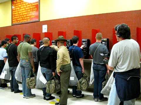 Marine Recruits Calling Home Part 1