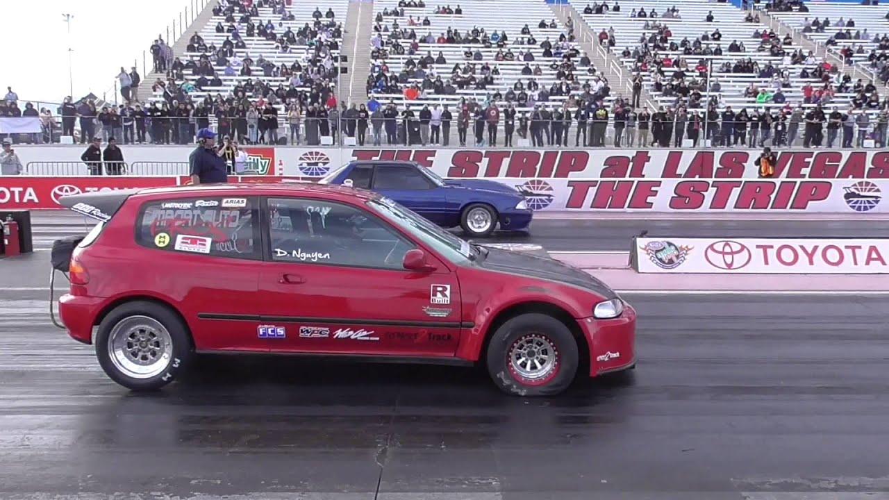 Honda Las Vegas >> 150mph Honda civic crash Drag Racing Nationals @ Las Vegas ...