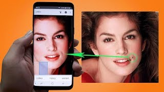 How to remove acne and moles on the phone