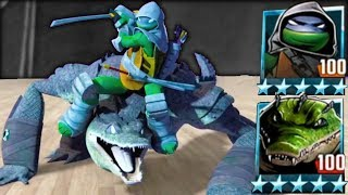 LEONARDO & LEATHERHEAD TEAM - Teenage Mutant Ninja Turtles Legends #TMNT 2012