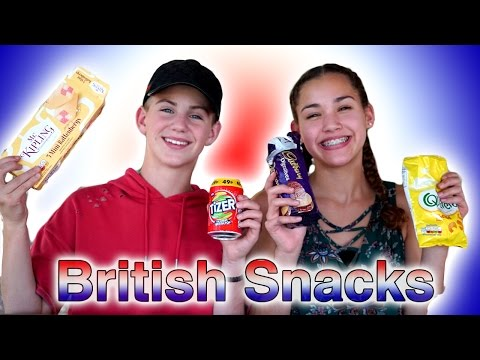 Thumbnail: Trying British Snacks! (MattyBRaps & Gracie Haschak)