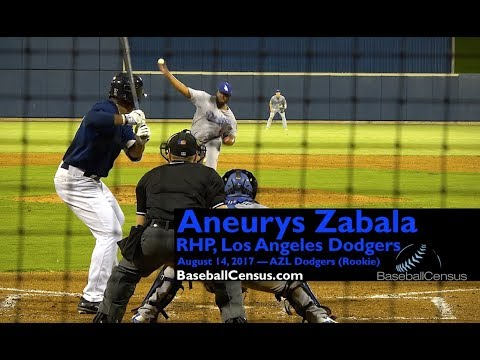 Aneurys Zabala, RHP, Los Angeles Dodgers — August 14, 2017