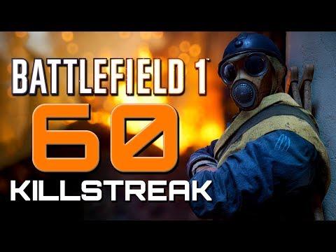 Battlefield 1: 60 Killstreak 104 Kills - They Shall Not Pass DLC (PS4 PRO Gameplay)