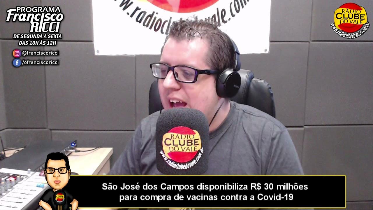 São José dos Campos disponibiliza R$ 30 milhões para compra de vacinas contra a Covid-19