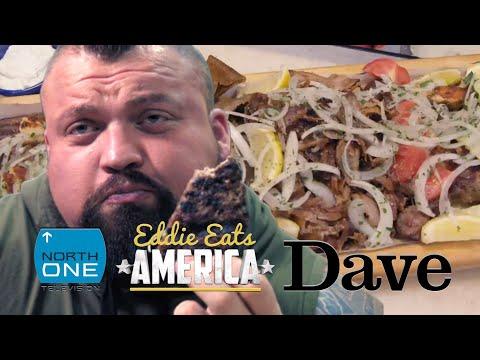 Can Eddie Hall complete the 7000cal 'Killer Kebab' Challenge? | Eddie Eats America