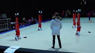 Rhythmic Gymnastics Training - Russian Group Warm Up