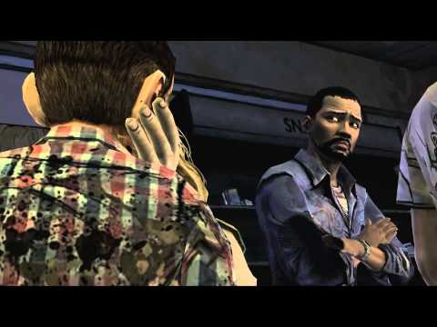 Selfish Lee Sides With Lilly In the Pharmacy - The Walking Dead Game Pharmacy Scene